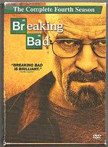 2012 BREAKING BAD Complete Fourth Season 4 DVD Set Bryan Cranston TV Ser... - $5.00