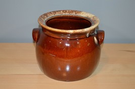 Hull Pottery Brown Drip Bean Pot Crock Without Lid Made in USA - $12.34