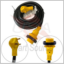 RV Power Cord 50 ft 30 amp Detachable Cable with LED Twist Lock Connecto... - $107.80