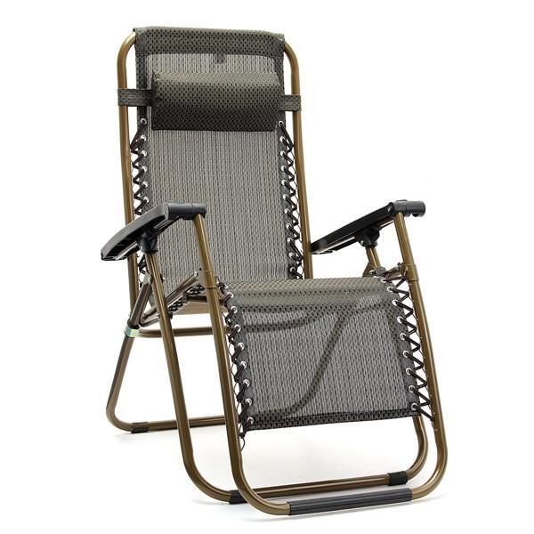 Outdoor Folding Sun Garden Lounger Recliner Relax Arm Rest Chair