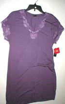 NWT New Designer Natori Night Gown Short Womens S Sleep Shirt Lace Purpl... - $123.50