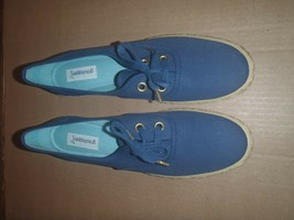 NEW Vintage Grasshoppers Womens Canvas Laces Shoes Sneaker BLUE Size 10.0 NARROW - $28.04