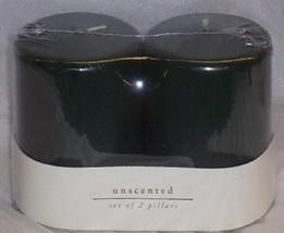 NEW 2 Pack Set GREEN PILLAR CANDLES - $16.34