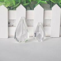 10pcs 38/50mm Suncatcher Crystal Pear Shaped Drop Chandelier Pendant Prisms Part - $11.53+