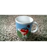 -166- M&M's Red & Yellow Coffee Mug Golf Baseball Sports 2003 - $20.25