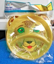 New Angel of Mine Divided Plate Pk of 2 Animal Yellow Lion - $5.50