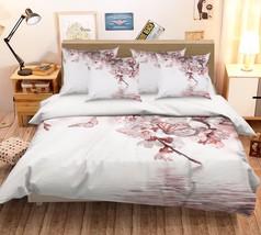 3D Peach Flowers Bed Pillowcases Quilt Duvet Cover Set Single Queen King Size AU - $64.32+