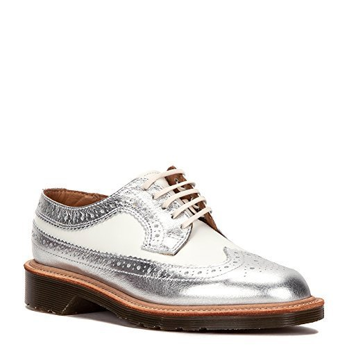Dr. Martens Women's Mie 3989 Oxford, Silver, 3 M UK/5 M US
