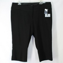 Maurices Savvy Capri Pants Sz 16 Black Polyester Rayon Relaxed Fit New C... - $19.99