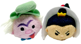 Disney Alice in Wonderland Tsum Tsums Plush Mad Hatter Queen of Hearts Set of 2 - $13.99