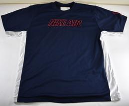 Vintage Men's Nike Air Mesh Jersey Short Sleeve Shirt #1 Navy Blue White XL - $22.76