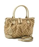 GUCCI GG Canvas Interlocking 2Way Hand Bag Beige Auth sa2313 - $520.00