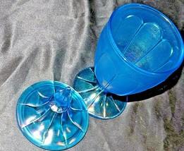 Blue Candy Jar, Optic  (Fenton) AA20-CD0098 Vintage