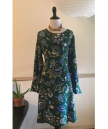 NWT Old Navy Shift Dress Sz 12T Boho Bell Sleeve Recycled Material Green... - $30.48