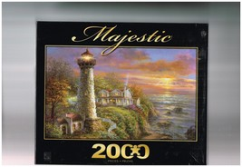 """Lighthouse Haven by Sure-Lox - 2000 Piece Puzzle - 39"""" x 27"""" complete - $14.00"""