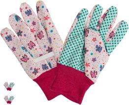 Gardening Gloves Kids Children Girls Pink Butterflies Ages 3-6 Outdoor 2... - $15.92