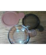 Corning Ware VISION Grab It Amber Bowl V-150-B Lid P-150-C Heat Eat Cove... - $14.67