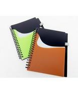 "New Wave ""Pocket Buddy"" Notebook, Spiral Bound, Slip Pockets, Pen Loop, ... - $5.95"