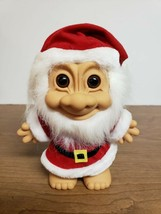 VINTAGE RUSS TROLL SANTA CLAUS WITH BEARD STICKER 18282 - VGC - $11.99