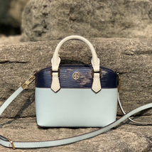Tory Burch Robinson Color-Block Top-Handle Mini Bag - $240.00