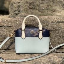 Tory Burch Robinson Color-Block Top-Handle Mini Bag - $240.00