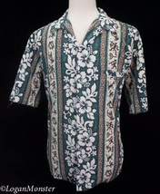 Royal Creations XL Green Hibiscus Honu Aloha Hawaiian Shirt - $23.76