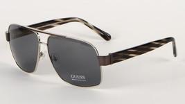 Guess GU6741-J42 GUN-3 Men's Sunglasses w/ Pouch - Shiny Silver w/ Gunme... - $31.96