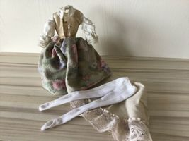 BARBIE DOLL SOUND OF MUSIC MARIA FLORAL SKIRT VEST BLOUSE Dress Stockings Slip T image 5
