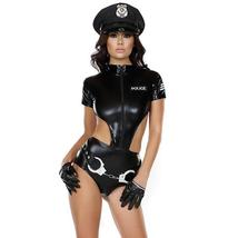 Women's Sexy Leatherette Police Costumes Cosplay Costume Role Play image 4