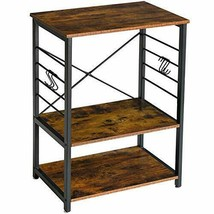 YMYNY Industrial Microwave Oven Stand, 3-Tier Kitchen Baker's Rack with ... - $108.84