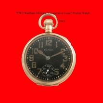 WW2 14kGold Black Dialed Waltham Military  Watch 1943 - $362.56