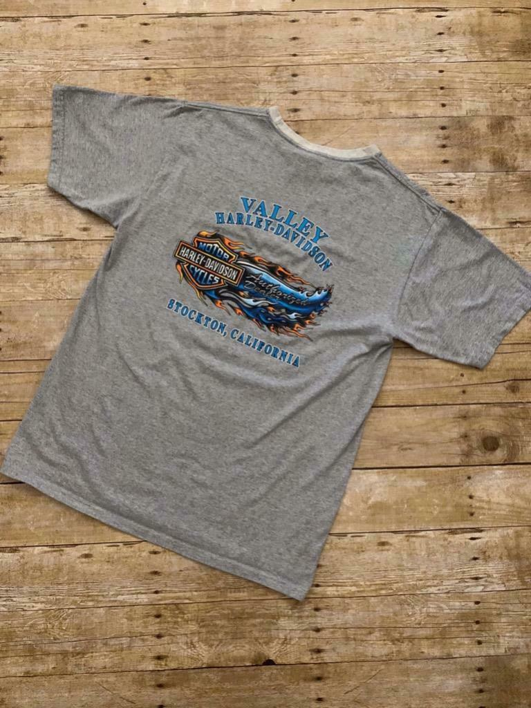 Harley Davidson Valley Harley Davidson Stockton California Made in USA Size L image 3