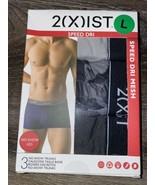2(X)IST ~ 3-Pair Mens No Show Trunks Underwear Speed Dri Mesh No Show Le... - $18.69