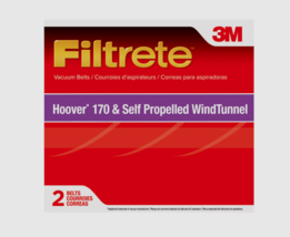 3M Filtrate Vacuum Belts For Hoover 170 & Self Propelled Wind Tunnel 2 P... - $7.99