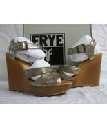 Frye Size 8 M Alexa Bronze Leather Open Toe Heels New Womens Shoes - $100.91