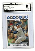 2008 Topps Baseball Card #256 Alex Rodriguez MVP Graded 9 Mint - $6.79