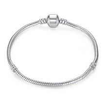 2 Piece Lot 925 Sterling Silver Bracelet Bangle European Beads Pandor - $13.71