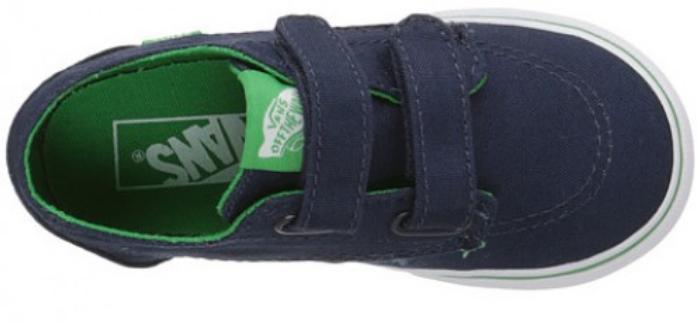 Vans Brigata V Size US 4 M Infant Toddler Shoes Pop Blue Kelly Green VN00018VHW4