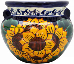 "Small Mexican Flower Planter ""Sunflowers"" - $75.00"
