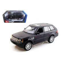 Range Rover Sport Black 1/18 Diecast Model Car by Bburago 12069bk - $80.18
