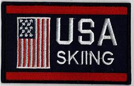 "Skiing Team USA Embroidered Iron-On Patch Size 4"" x 2 1/2"". USA Winter O... - $7.55"