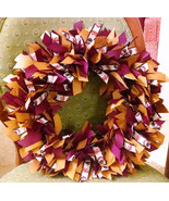 "Florida State SEMINOLES 16"" Ribbon Wreath Custom Made For Each  Fan - $47.50"