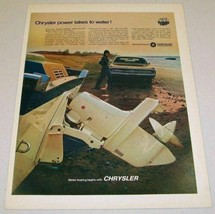 1969 Print Ad Chrysler Inboard Outboard Motors Boat on Beach - $11.56