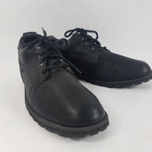 TIMBERLAND Mens Black Leather Lace Up Casual Walking Shoes Boots Sz 12M - $661,31 MXN