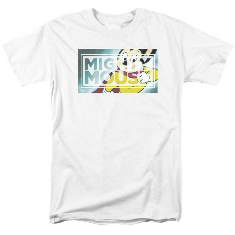 Mighty Mouse superhero Retro Saturday Morning cartoon classics t-shirt CBS1589