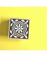 Square design wooden stamps block printing craft heena making block prin... - $11.83