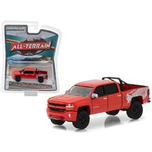 2018 Chevrolet Silverado 1500 Red All Terrain Series 6 1/64 Diecast Mode... - $13.15