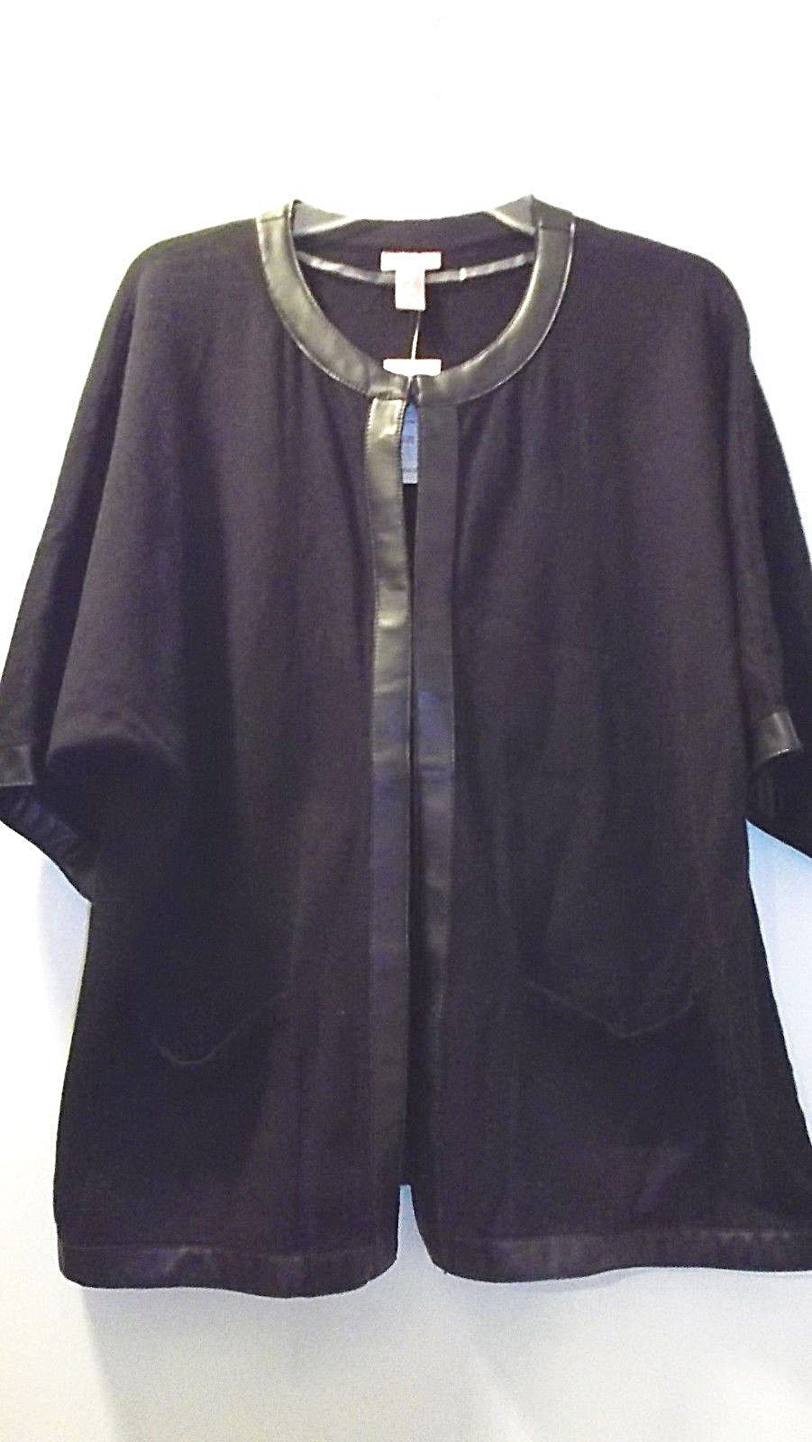CHICO'S KELLEY ELBOW  BLACK CARDIGAN SWEATER NWT$64 - $20.00