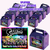 SPLATOON Favor Boxes Thank you Decals Stickers Loots Party Candy PAINT P... - $24.70