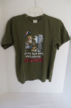 """Boy's Olive Green """"VIDEOGAMES"""" Graphic T-Shirt Size L - $6.79"""